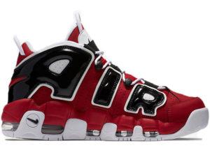 Nike Air More Uptempo 96 Bulls красные с черным