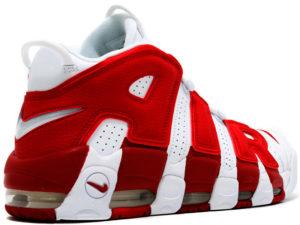 Nike Air More Uptempo белые с красным