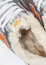 Зимние NEW BALANCE 574 с мехом замша серые (35-39)