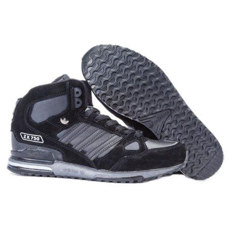 Adidas ZX 750 High черно-серые (40-45)