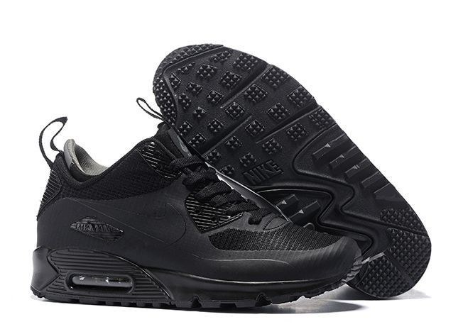 Nike Air Max 90 Winter Mid black черные (41-44)