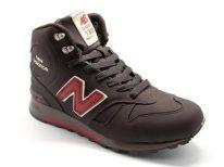 New Balance 1300 нубук с натуральным мехом темно-коричневые (40-45)