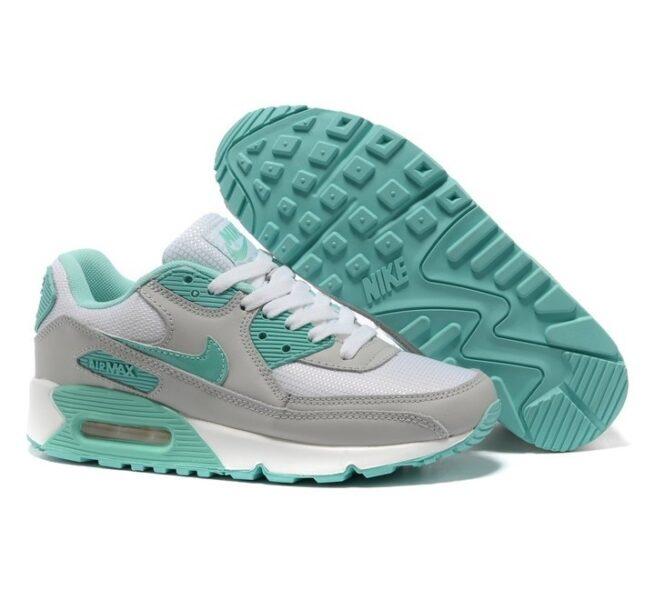 Nike Air Max 90 серо-бирюзовые (35-40)