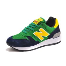 New Balance 670 замша-сетка зеленые с синим (35-45)