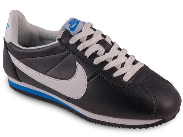 Nike Cortez кожаные черные с белым (40-45)