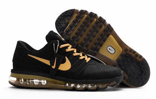 Nike Air Max 2017 черные с золотым (40-44)