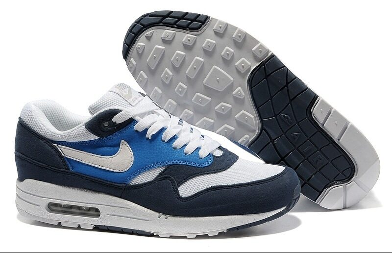 Nike Air Max 87 синие с белым (40-45)