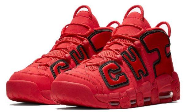 Nike Air More Uptempo красные с черным 40-45
