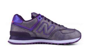 New Balance 574 серебро с фиолетовым 35-40