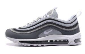 Nike Air Max 97 серые с белым (40-45)