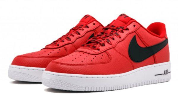 Nike Air Force 1 LV8 NBA красно-черно-белые (40-45)