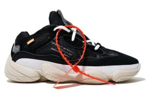 Off White x Adidas Yeezy Boost 500 black черные (40-44)