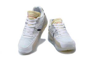 Nike Air Max 90 белые Off White X (40-44)