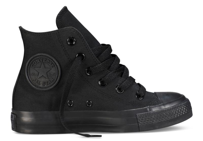 Converse All Star высокие черные  black (35-45). Конверс Ол Стар