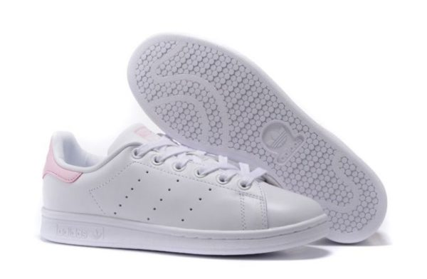 Adidas Stan Smith White-Pink белые с розовым (35-40)