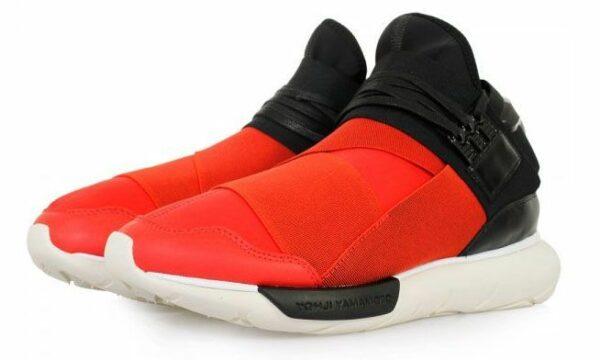 Adidas Y-3 Qasa High красные с черным (39-44)