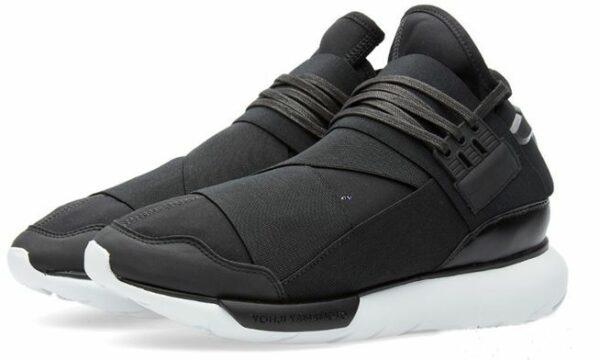 Adidas Y-3 Qasa High черные с белым (39-44)
