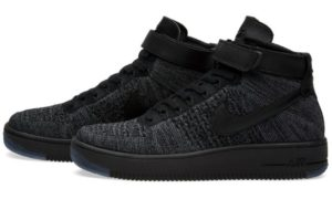 Nike Air Force 1 Flyknit черные (40-45)