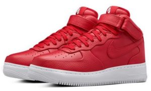 Nike Air Force 1 Lab mid красные (35-44)
