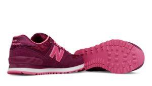 NEW BALANCE 574 ЗАМША-СЕТКА фиолетовый с розовым(36-39)