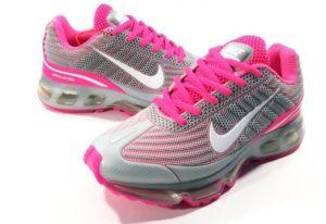 Nike Air Max 360 серые с розовым pink (35-39)