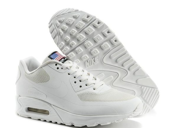 NIKE AIR MAX 90 HYPERFUSE White белые USA (35-44)