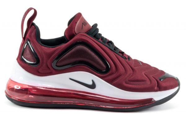 Бордовые мужские кроссовки