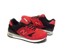 Кроссовки New Balance 577 замша-сетка красно-черные 40-44