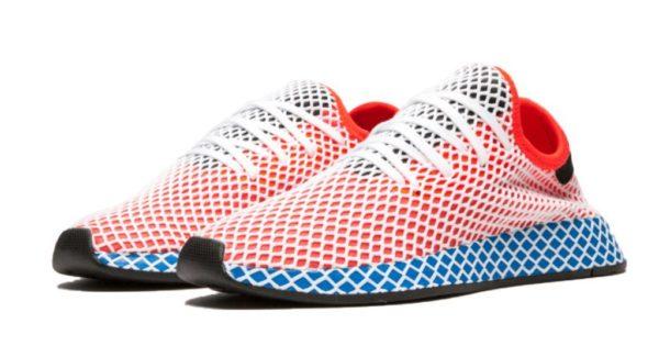 Adidas Deerupt Runner J красные с синим (35-39)