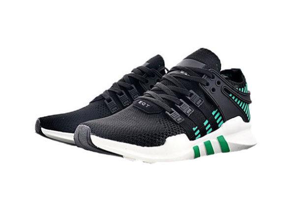 Adidas EQT Support ADV Primeknit черные с зеленым (39-43)
