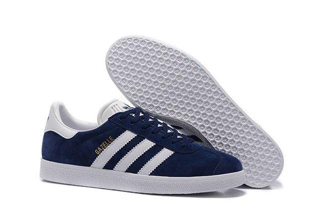 Adidas Gazelle темно-синие с белым (35-44)