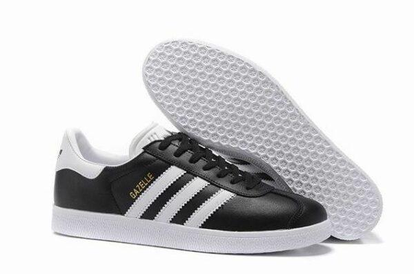 Adidas Gazelle Leather черные с белым (40-44)