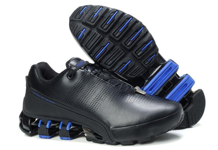 """Adidas Porsche Design P'5000 """"Leather"""" черные с синим (39-45)"""