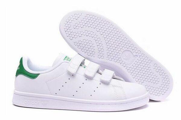 Adidas Stan Smith CF белые с зеленым (35-39)