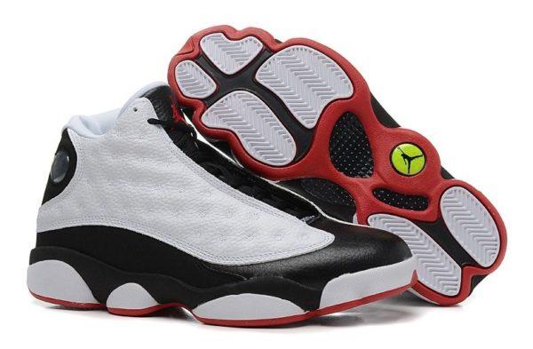 Nike Air Jordan 13 Retro белые с черным и красным (40-45)