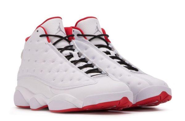 Air Jordan 13 Retro белые с красным (40-45)