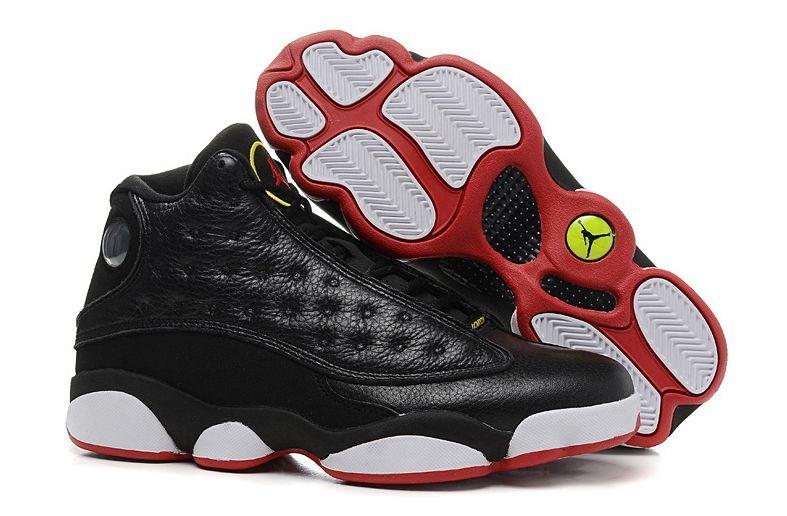 Air Jordan 13 Retro черные с белым и красным (40-45)