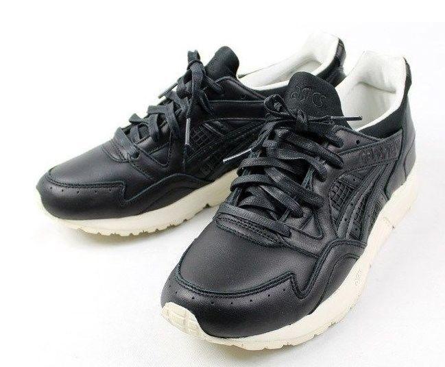 Asics Gel Lyte 5 кожаные черные с белым (40-44)