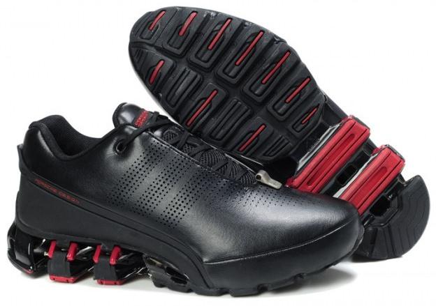 Adidas Porsche Design bounce run P5000 black чёрно-красные (39-44)