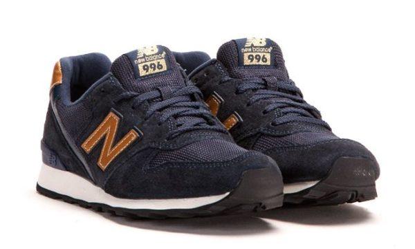 New Balance 996 темно-синие с золотым (35-39)