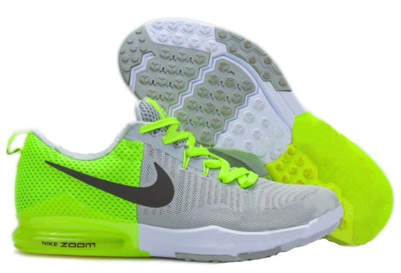 Nike Zoom Train Action серые с зеленым (40-44)