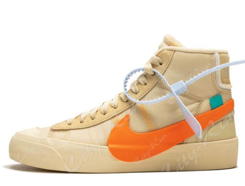 Off White x Nike Blazer Mid оранжевые (40-44)