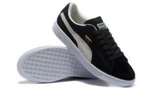 Puma Suede Classic черные с белым (35-44)