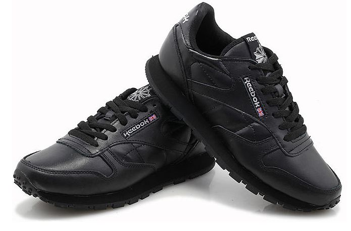 Reebok Classic Leather (Black) черные (35-44)