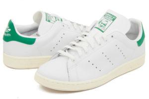 Adidas Stan Smith белые с зеленым (36-45)