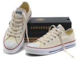 Converse All Star Chuck Taylor low низкие бежевые (35-45). Конверс Ол Стар
