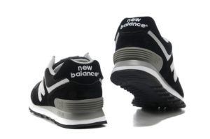 Кроссовки New Balance 574 черные с белым (35-45)