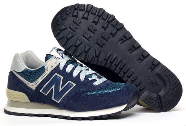 Кроссовки New Balance 574 темно-синие (40-46)