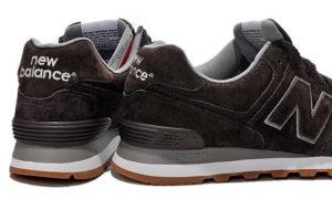 Кроссовки New Balance 574 темно-коричневые (40-44)