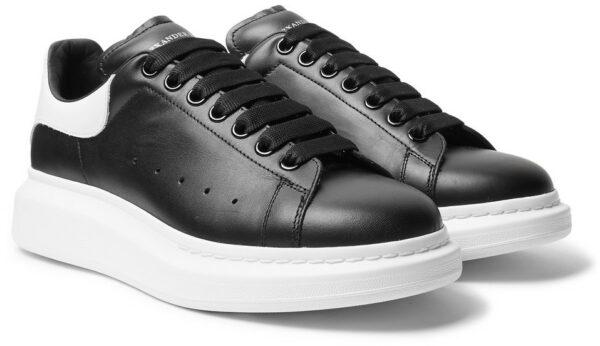 Alexander Mcqueen Leather черные с белым (35-39)